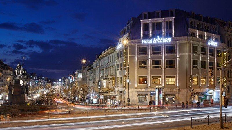El Occidental Praha Wilson goza de una estratégica ubicación en pleno centro de la capital checa.