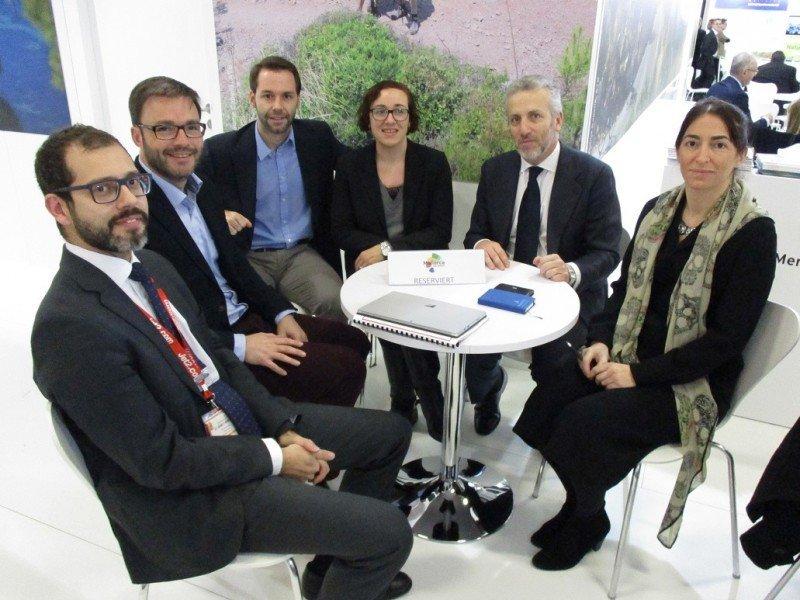 Representantes del Ayuntamiento de Palma y de la Fundación Turismo Palma de Mallorca 365 se reunieron con directivos de Jet2.com.