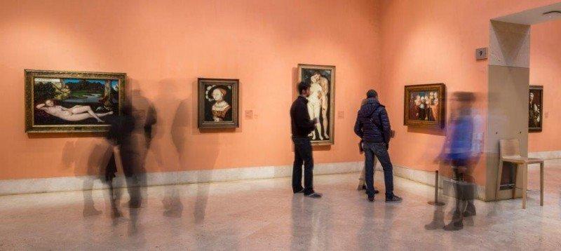 Los visitantes pueden acceder a la colección permanente y a las exposiciones temporales abonando una tarifa única de entrada. Fotografía: Pablo Casares.