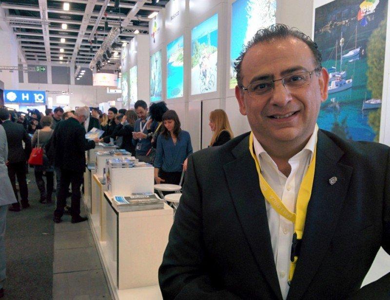 Alfonso Rodríguez, alcalde de Calvià, en una imagen tomada la semana pasada en la feria turística ITB de Berlín.