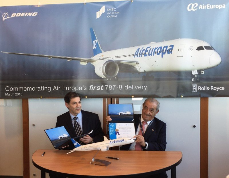 Air Europa recibe su primer Boeing 787 Dreamliner