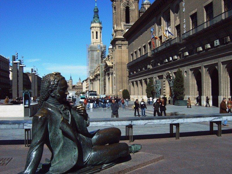 Centro urbano de Zaragoza.