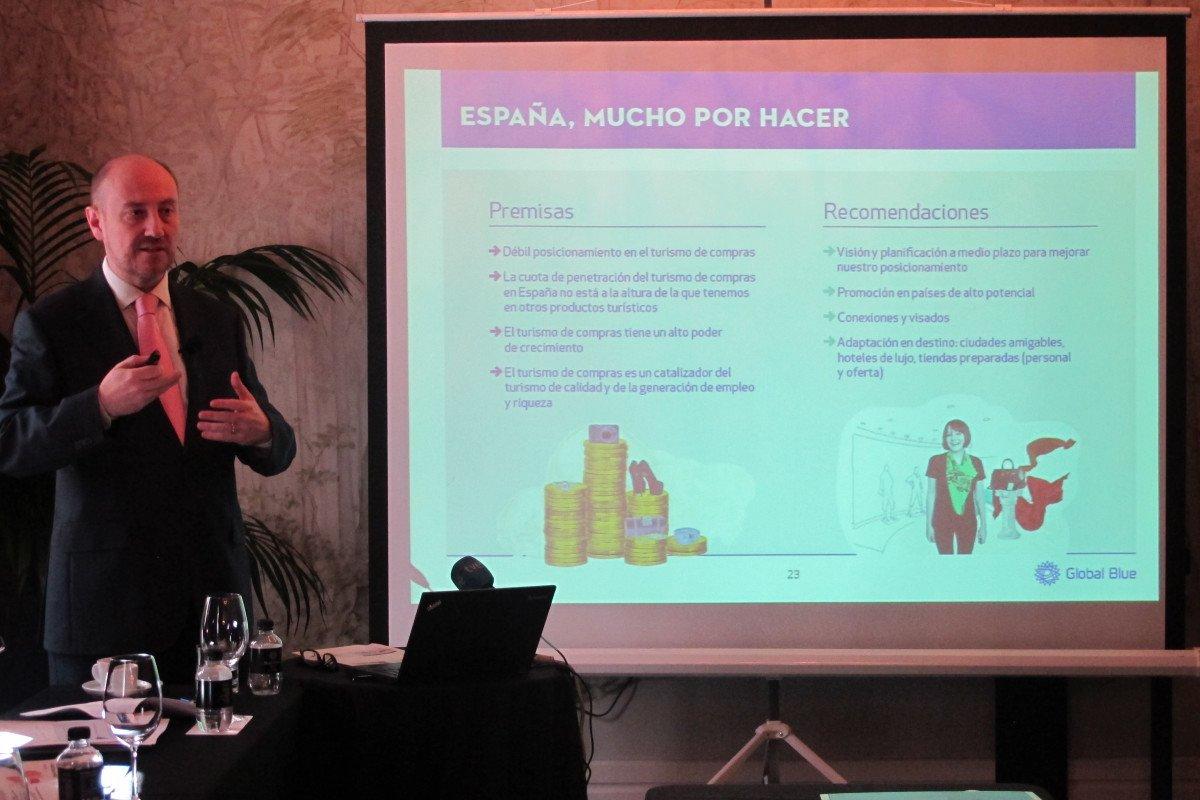 Luis Llorca, director general de Global Blue España, presentó ayer el informe.