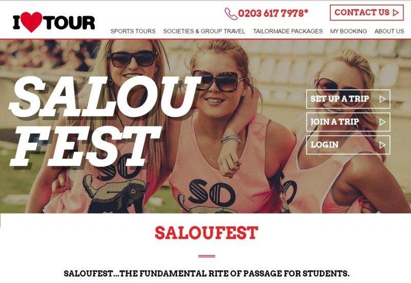 La web donde se venden los viajes del SalouFest