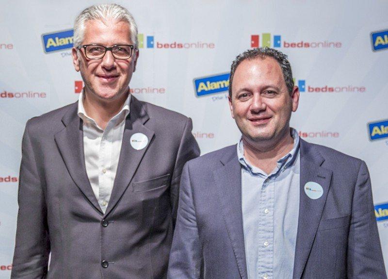 Paolo Boiano, director de Ventas de Bedsonline para el Sur de Europa y Carlos Feliu, director de Bedsonline (de izqu. a dcha.)