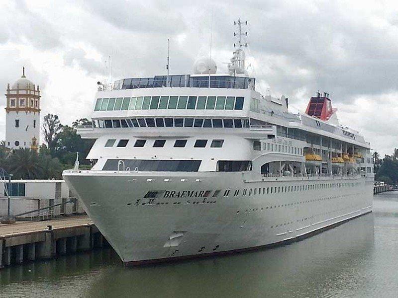 Fred Olsen estrena el nuevo muelle de cruceros de Sevilla