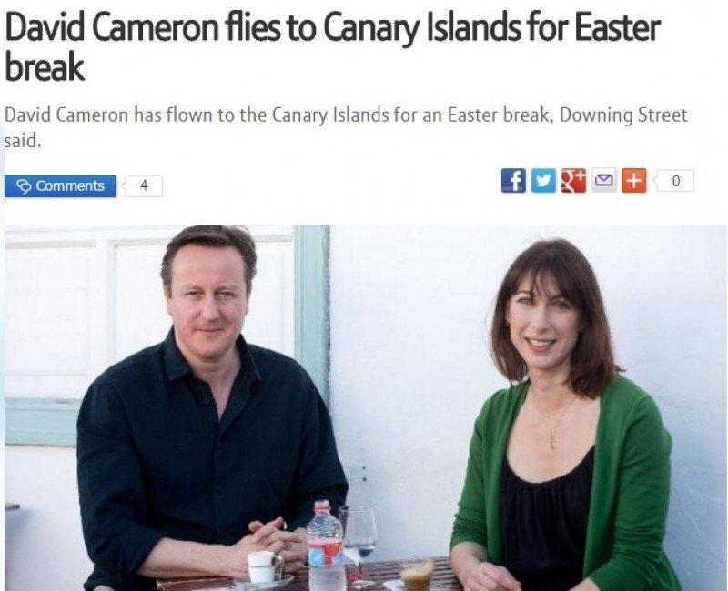 David Cameron y Angela Merkel brindan promoción gratis a Canarias