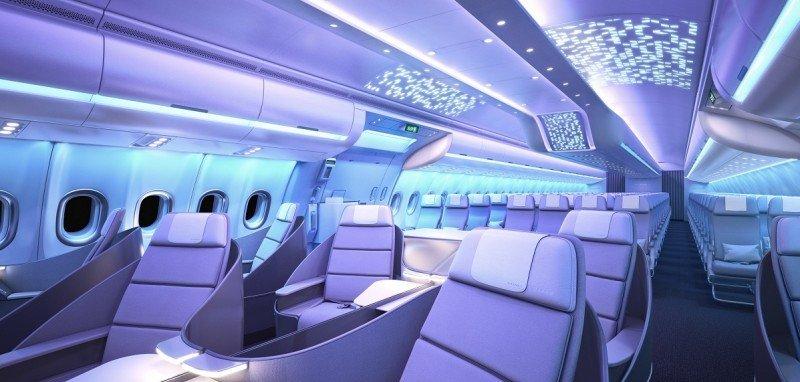 Airbus lanza con el A330neo una nueva cabina, Airspace (vídeo)