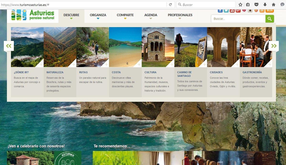 El portal de turismo se encuentra en proceso de mejora.