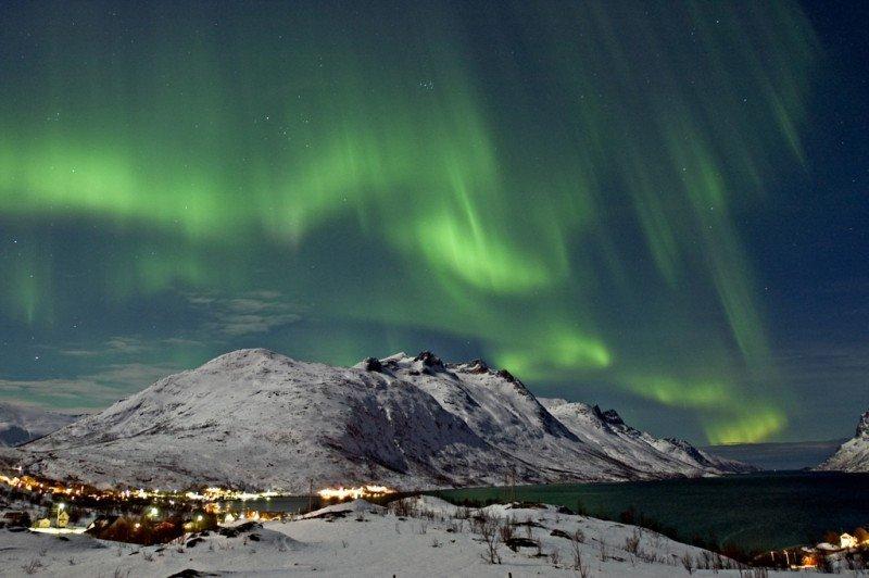 Aurora boreal en Noruega. Foto: Bjorn Jorgensen