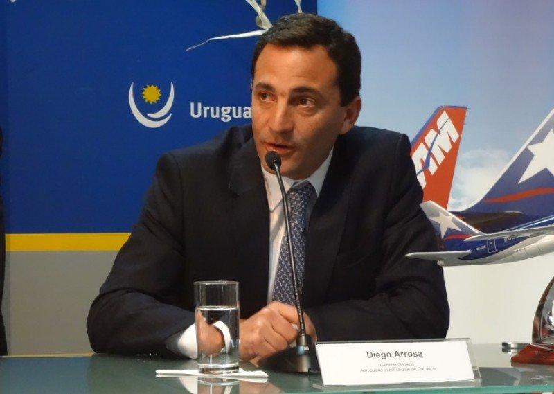 Diego Arrosa, CEO del Aeropuerto Internacional de Carrasco. Foto: archivo Hosteltur