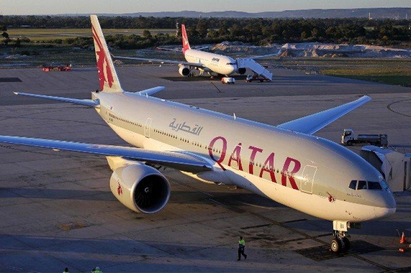 Boeing 777-200 LR de Qatar Airways.