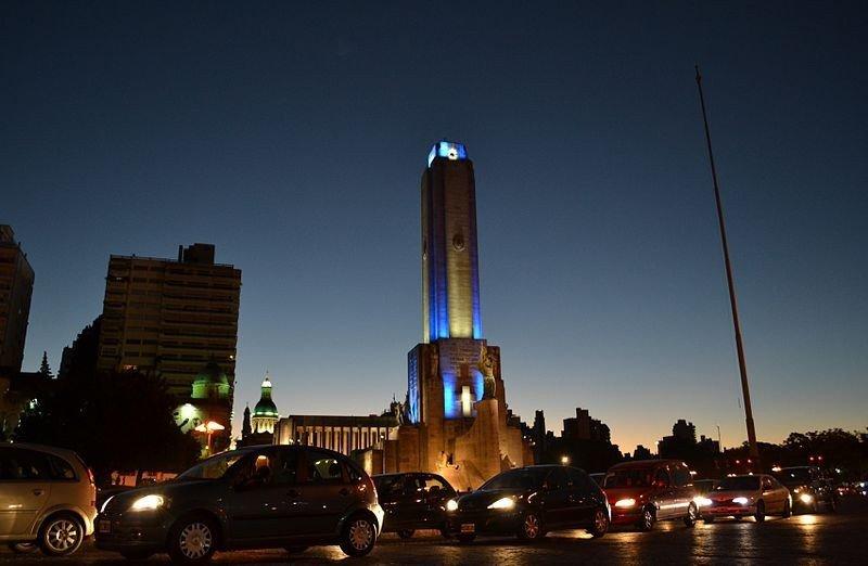 Monumento a la bandera en Rosario.