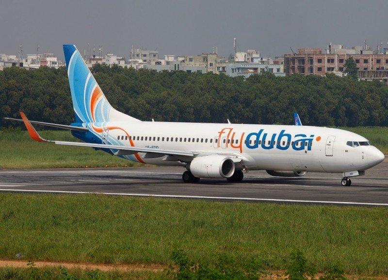 Un Boeing 737-800 de FlyDubai, idéntico al que se estrelló.