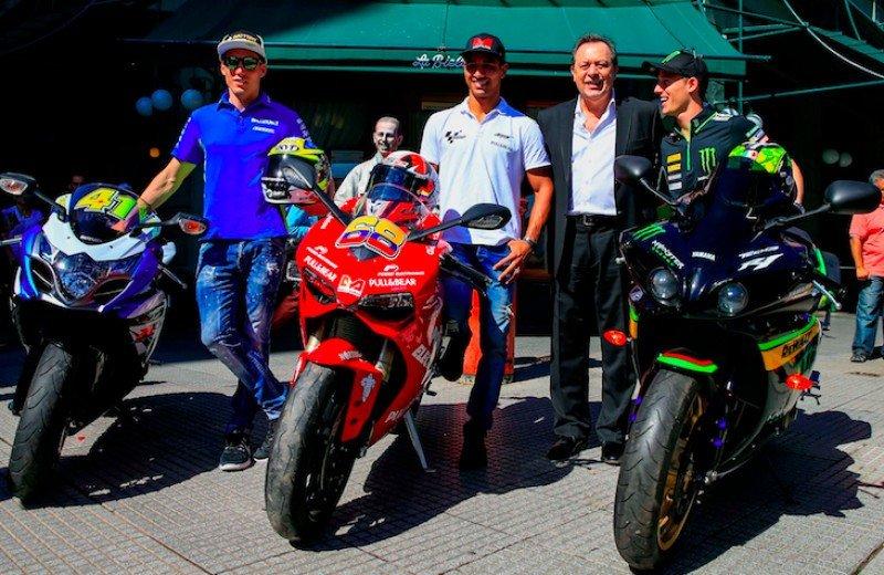 El Moto GP fue presentado en La Biela de Buenos Aires.