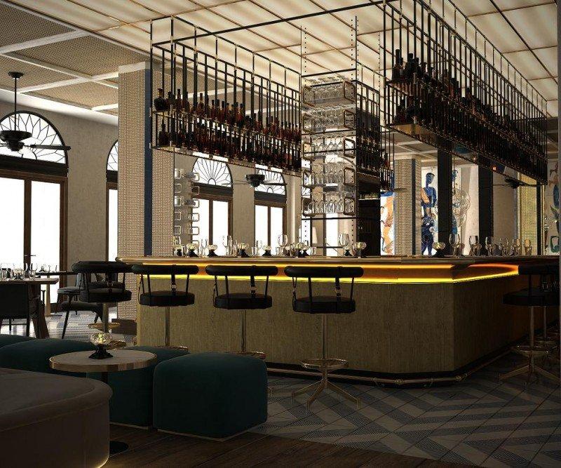 La restauración y el interiorismo del hotel corren a cargo de Lázaro Rosa-Violán.
