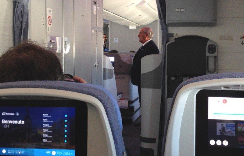 Juan José Hidalgo durante el vuelo.
