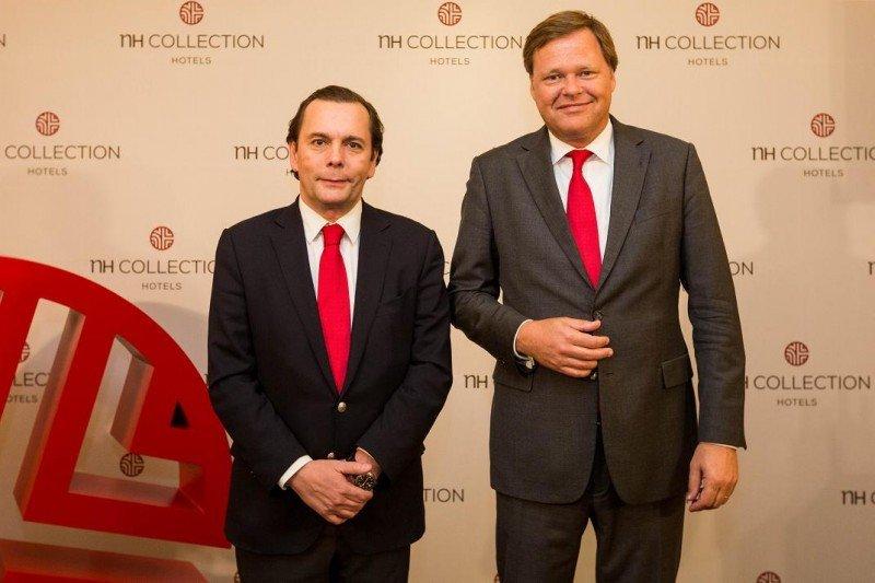 De izq. a dcha, Federico González Tejera, CEO de NH Hotel Group; y Maarten Markus, su director general para Benelux, Reino Unido, Francia y África.