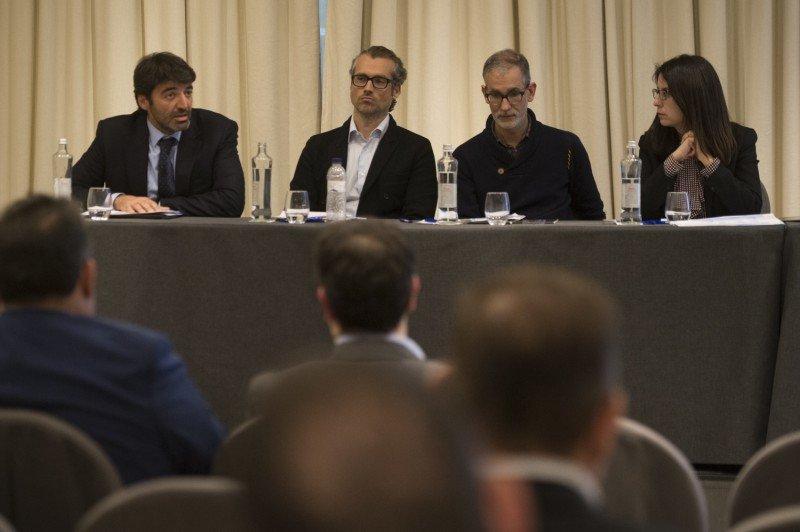 De izq. a dcha, Albert Grau, Xavier Arias, Patrick Colomer y Lucía Méndez-Bonito.
