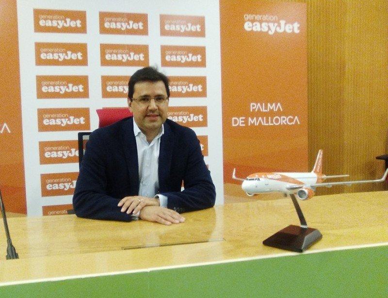 El director general de easyJet en España, Javier Gándara, anunció la apertura en Palma de Mallorca de la primera base estacional de la aerolínea.