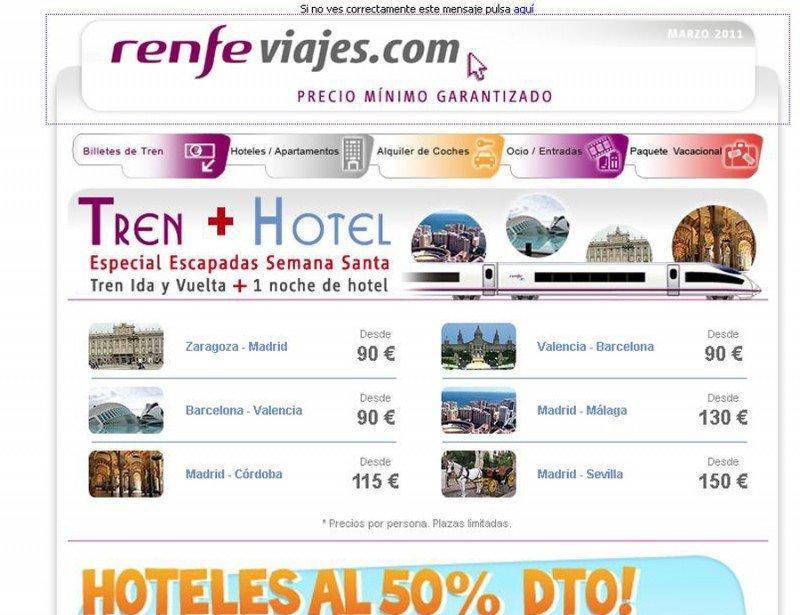 Renfe Viajes en 2011.
