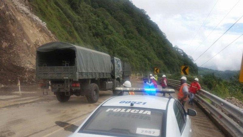 Algunas carreteras han sido cerradas. Foto: Gobiero de Ecuador.