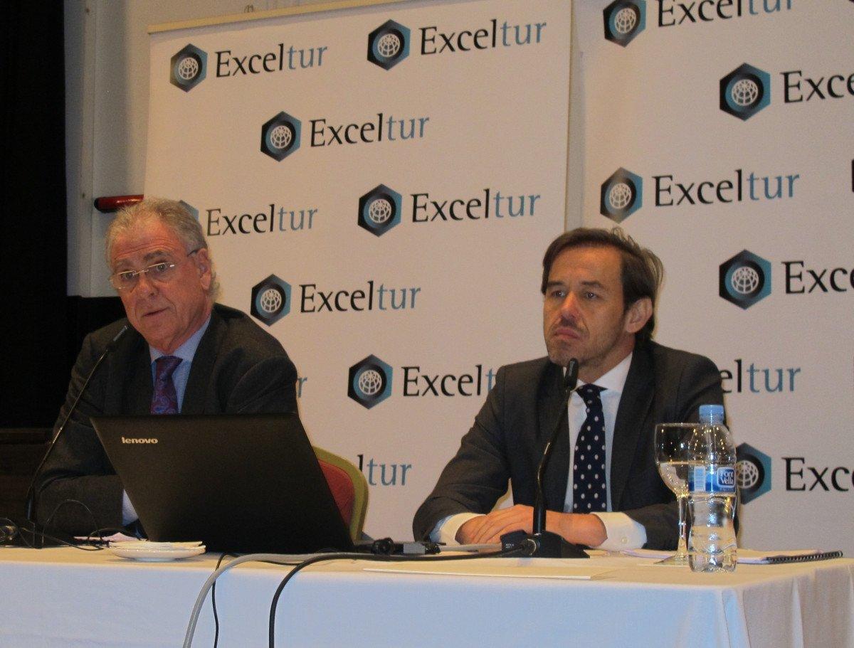 José Luis Zoreda, vicepresidente de Exceltur, y Óscar Perelli, director de estudios.