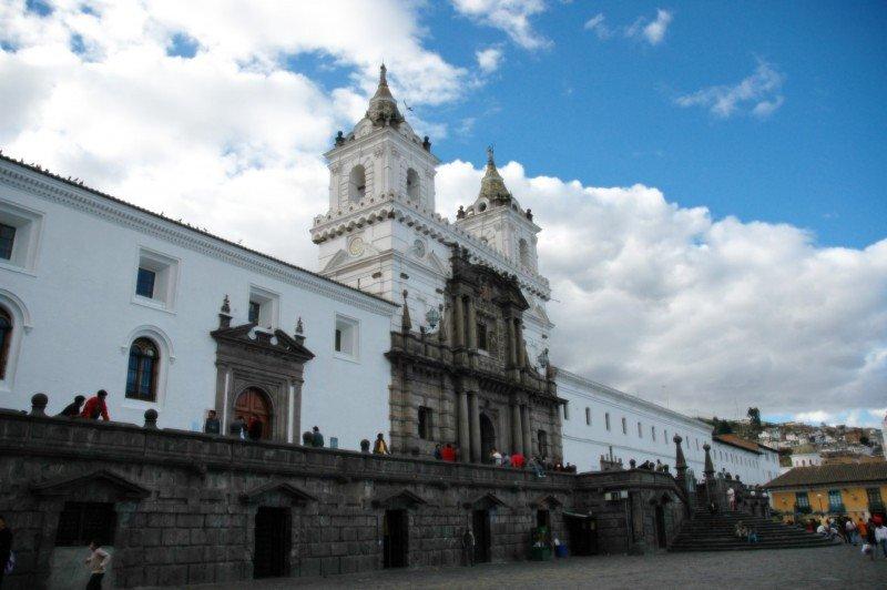 Iglesia de San Francisco en Quito, Ecuador.