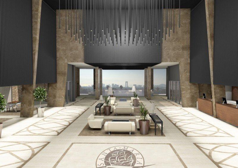 Recreación virtual del nuevo hotel que abrirá sus puertas en Terra Mítica este verano.
