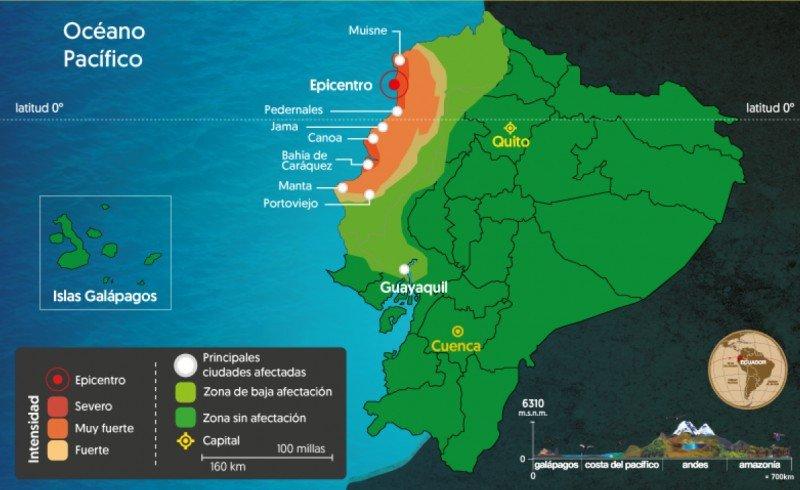 Mapa: Ministerio de Turismo de Ecuador. CLICK PARA AMPLIAR IMAGEN.