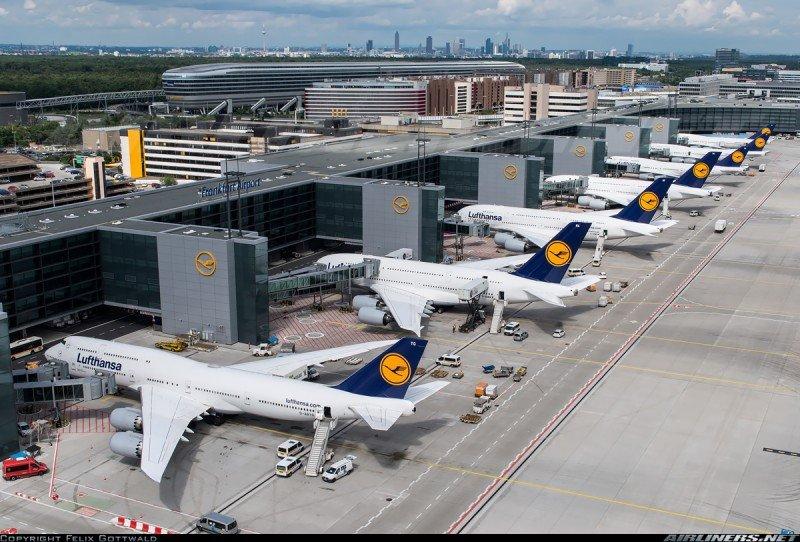 Masiva cancelación de vuelos de Lufthansa por una huelga de funcionarios