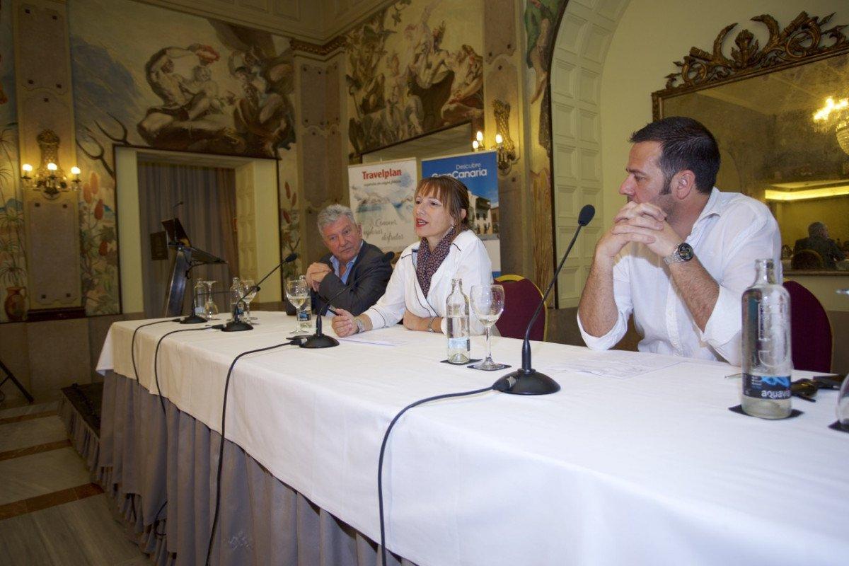 En la presentación del destino participaron la consejera de Turismo del Cabildo de Gran Canaria, Inés Jiménez, y el concejal de Turismo de Las Palmas de Gran Canaria, Pedro Quevedo