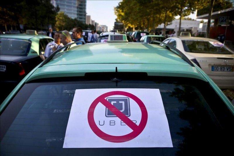 Protestas contra Uber en tres países