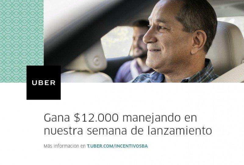 Uber revela incentivos de lanzamiento en Argentina: US$ 822 a la semana