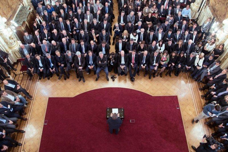 Mauricio Macri en la presentación del Plan Federal de Turismo. Foto: Presidencia argentina