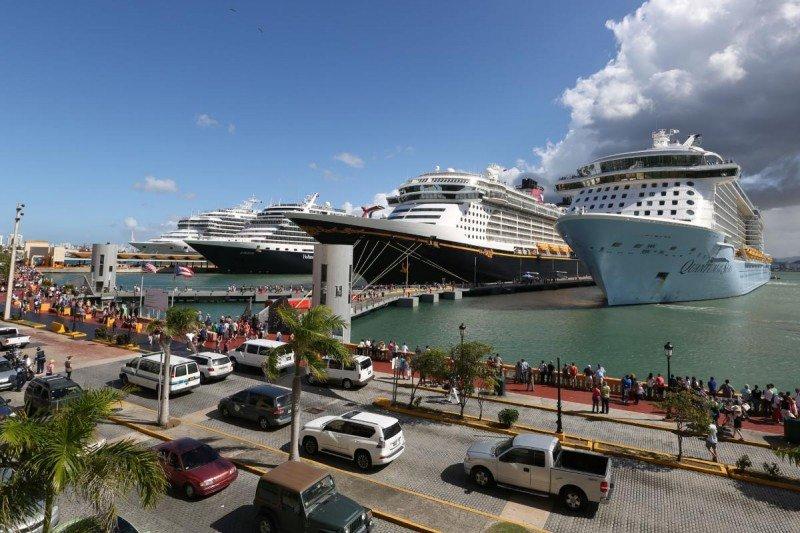 Cruceros en el puerto de San Juan.