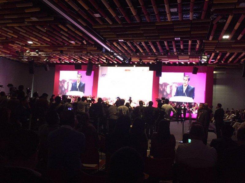 El presidente peruano Ollanta Humala estuvo presente en la apertura.