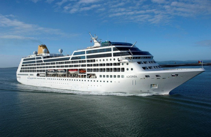 El crucero Adonia, de la compañía naviera Carnival.