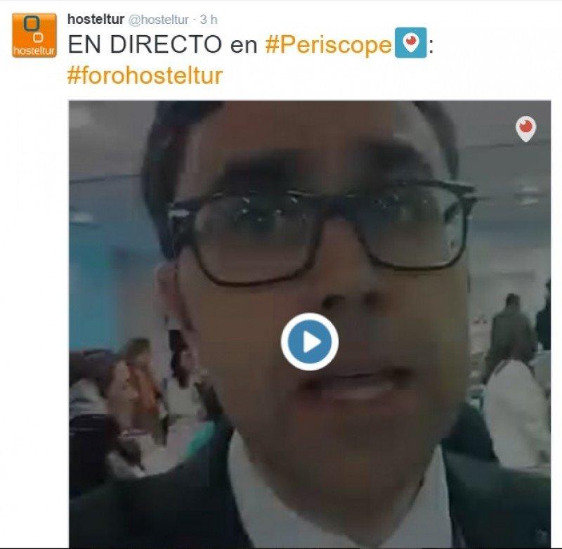 Estrenamos los nuevos formatos con Xavier Canalis emitiendo vídeos en directo del foro a través de Periscope y Twitter.