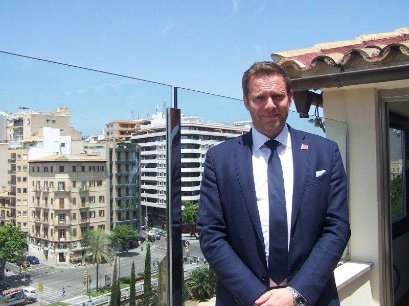 Thomas Ramdahl, Chief Commercial Officer de Norwegian, prepara en Palma de Mallorca la apertura de su séptima base España.