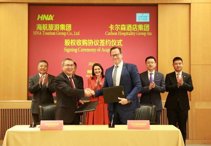Firma del acuerdo de compra del 51,3% de Rezidor Hotel Group por parte de HNA, lo que hace cuestionable la presencia de sus consejeros en el consejo de administración de NH.