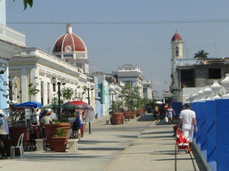 Centro histórico de Cienfuegos, al sur de Cuba.