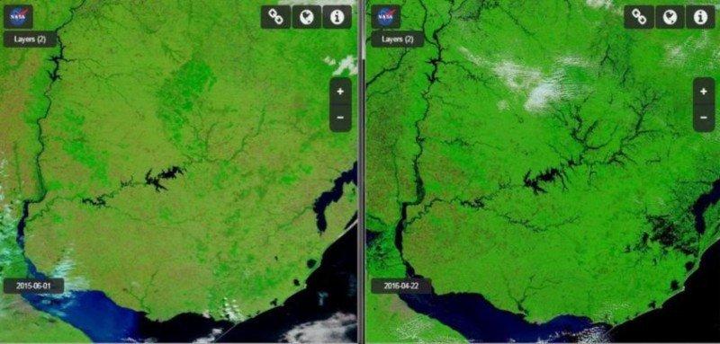 Efecto de las inundaciones de abril en Uruguay.