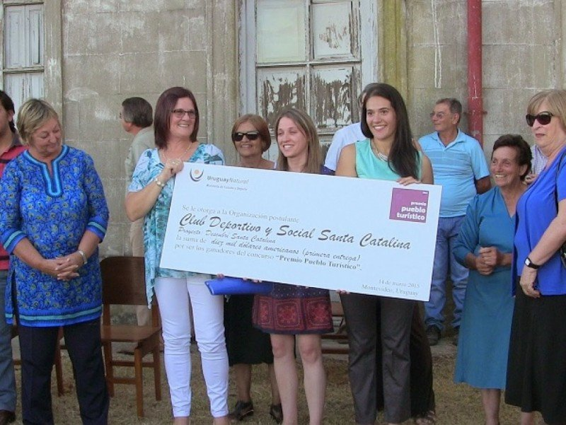 Santa Catalina, en Soriano, fue el Pueblo Turístico premiado en 2014.