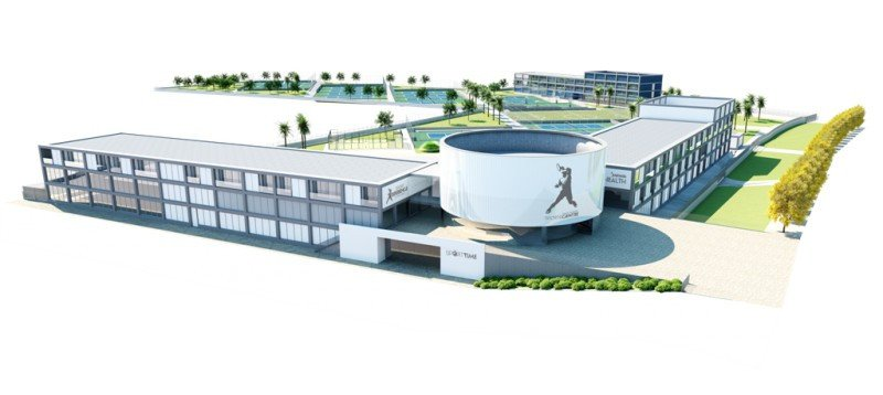Recreación del centro deportivo Rafa Nadal Sports Centre de Manacor, Mallorca, que abre sus puertas en junio de 2016.