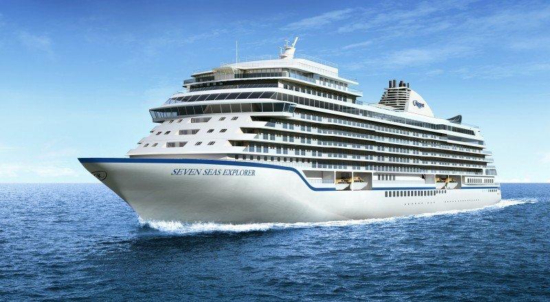 El nuevo buque Seven Seas Explorer tiene capacidad para cerca de 750 pasajeros.