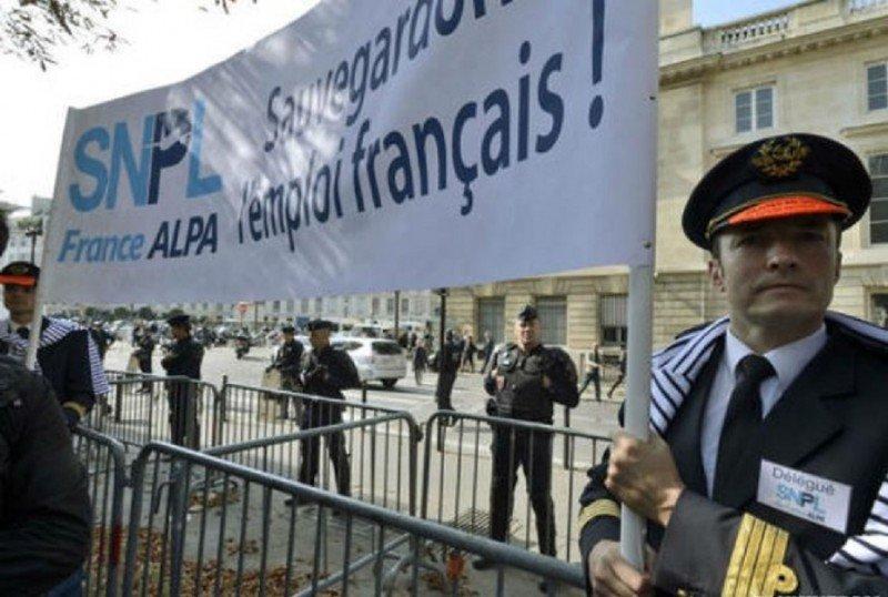Los pilotos de Air France, convocados a una nueva huelga (Foto de archivo, anterior protesta).