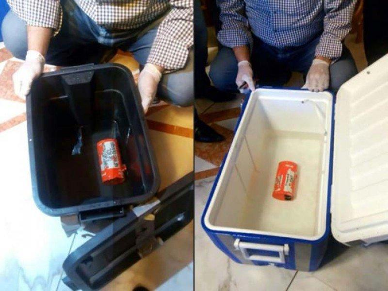 Las cajas están muy deteriodadas por la sal, según los investigadores (Foto: AFP).