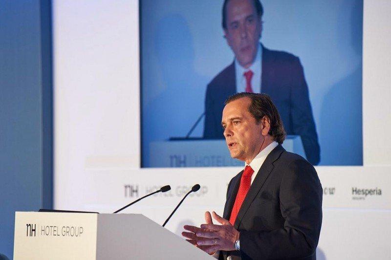 El hasta ayer CEO de NH hizo balance en la junta de accionistas de la aplicación del Plan Estratégico al llegar a su ecuador.