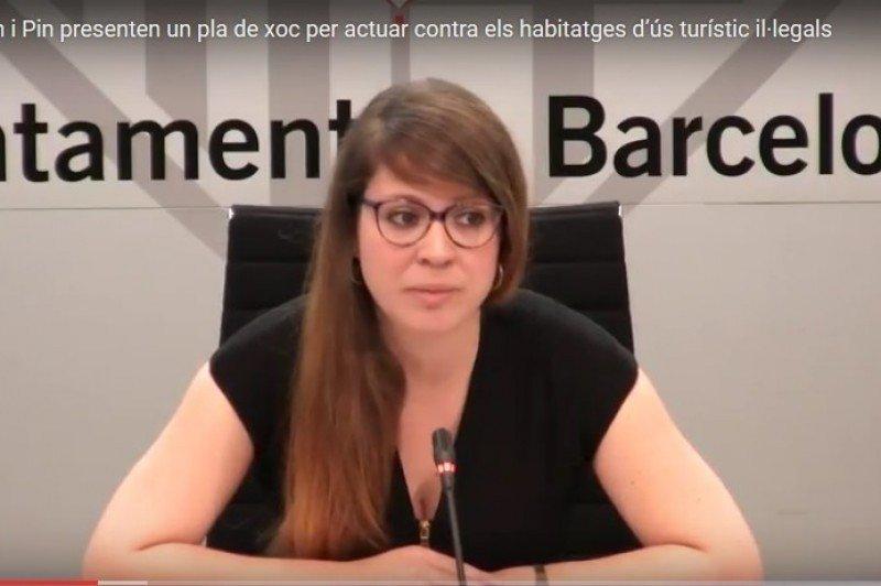 La teniente de alcalde de Ecologia, Urbanismo y Mobilidad, Janet Sanz.